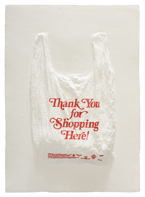 , 'Thank You for Shopping Here! Plastic Bag,' 2016, Mixografia