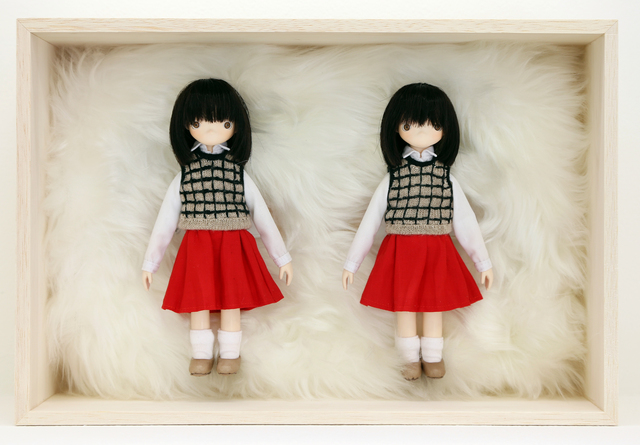 Tomoyasu Murata, 'Twin Girls / Scramble', 2016, Mixed Media, Brass, wood, wire, latex, cloth, cotton, acrylic sphere, acrylic paint, GALLERY MoMo