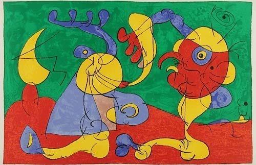 Joan Miró, 'VII. Ubu Roi: Les Nobles à la Trappe', 1966, Print, Lithograph, Contessa Gallery