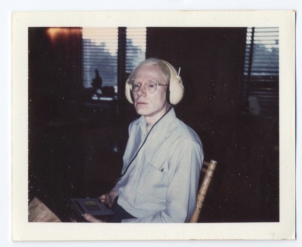 , 'Untitled (Andy Warhol wearing Lou Reed's headphones),' 1973, Nathalie Karg Gallery