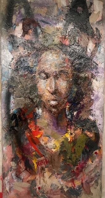 Julien Trésor Kandolo (KANDO), 'Human', 2019, Painting, Mixed Media on Canvas, Gugsa Black Arts Collective