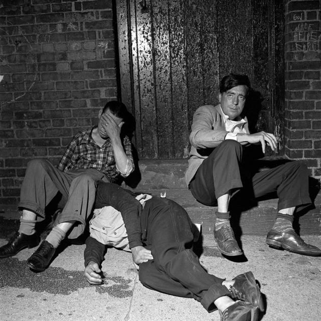 "Vivian Maier, 'VM19XXW04202-05-MC - New York, NY, n.d., 3 Men in Street, 12"" X 12""', printed 2017, KP Projects"
