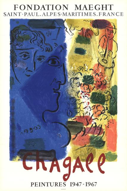 Marc Chagall, 'Le Visage Bleu', 1967, Print, Color Lithograph, ArtWise