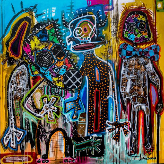 , 'Réunion de la Sape au Village,' 2018, Out of Africa Gallery