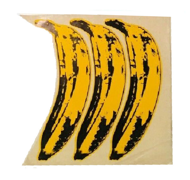 "Andy Warhol, 'SET OF 3- ""The Velvet Underground Banana Stickers"", Original Unpeeled Banana Stickers Designed by Warhol for the  Debut Album ""The Velvet Underground & Andy Warhol"", Extremely RARE', 1967, Ephemera or Merchandise, Coated Paper, Glue, Glassine Paper, VINCE fine arts/ephemera"