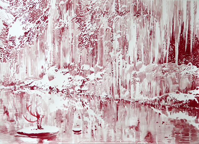 , 'Roter Wasserfall,' 2014, Victor Lope Arte Contemporaneo