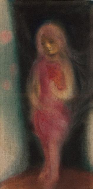 , 'Girl in red dress with red cat,' 2011, Rena Bransten Gallery