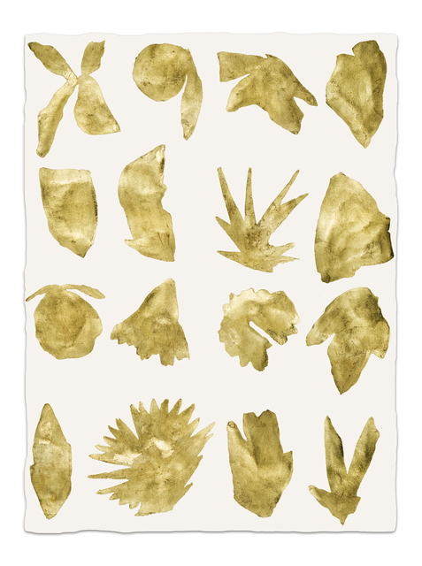 Kate Roebuck, 'Gold Sea Shapes One', 2019, Uprise Art