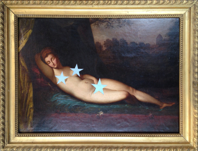 , 'Scratch Card Nude,' 2014, StolenSpace Gallery