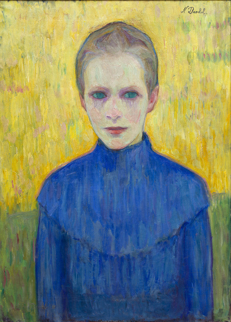 , 'Flicka i blå klänning (Girl in a blue dress),' 1910, CFHILL