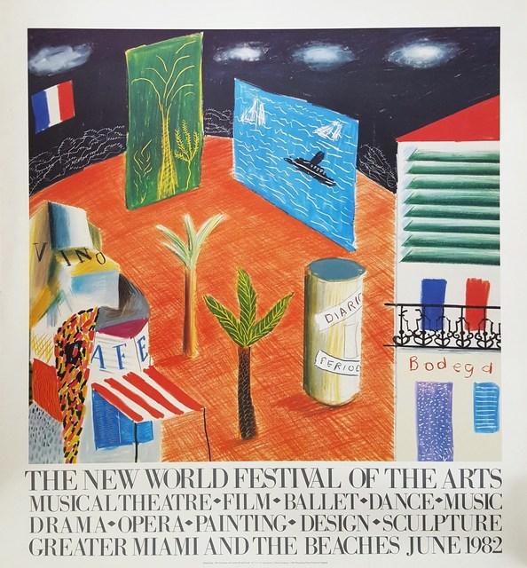 David Hockney, 'The New World Festival of the Arts', 1982, Graves International Art