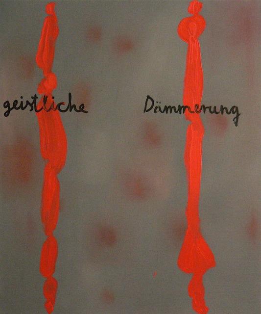 , 'Gistiche Dammerung,' 1997, Art+Text Budapest