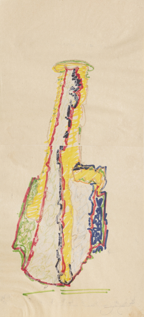 John Chamberlain, 'Yellow Coconut', 1981, Drawing, Collage or other Work on Paper, Marker and pencil on newsprint, RoGallery Gallery Auction