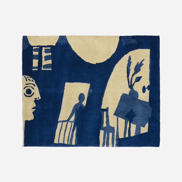 Pablo Picasso, 'Jacqueline tapestry', 1964, Textile Arts, Hand-knotted wool, Rago/Wright