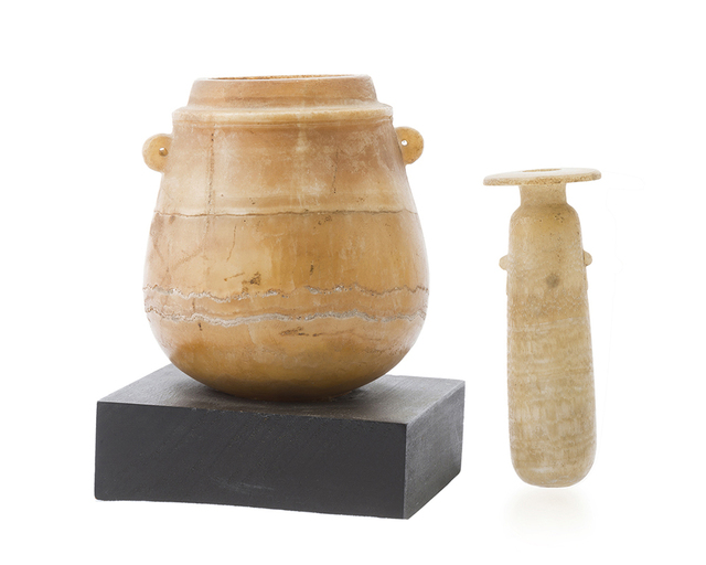 'Two ancient alabaster vessels', John Moran Auctioneers