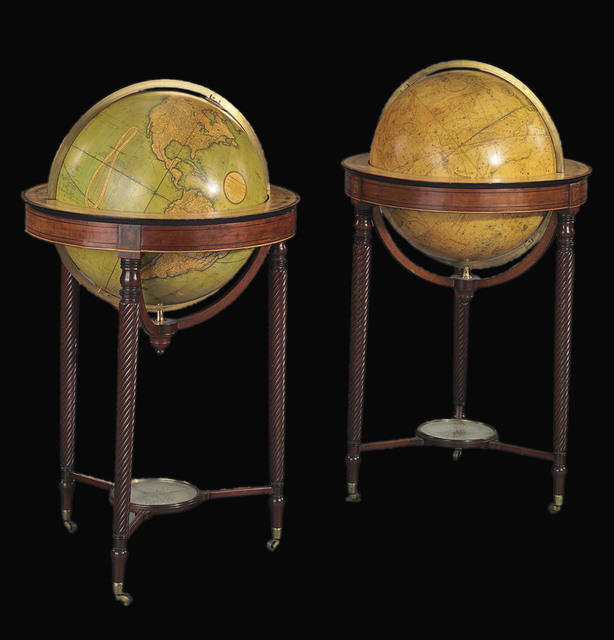 , '[A pair of globes: terrestrial and celestial].,' 1815 and 1819, Daniel Crouch Rare Books