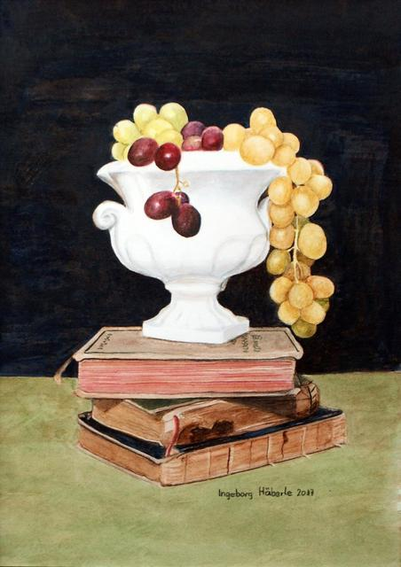 Ingeborg Haeberle, 'grapes and books', 2017, the gallery STEINER