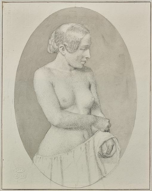 , 'Young Woman Undressing,' 1844, Didier Aaron