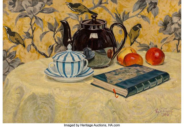 Georges Emile Lebacq, 'La théière noire (The black teapot)', 1924, Heritage Auctions