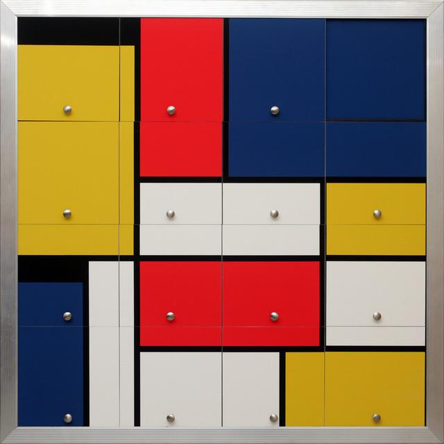 , 'Homenagem a Mondrian III (Homage to Mondrian III),' 2010, Silvia Cintra + Box 4