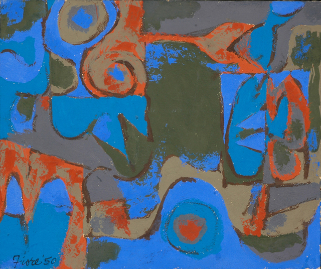 Joseph Fiore, 'Untitled', 1950, Painting, Oil on cardboard, Black Mountain College Museum and Arts Center
