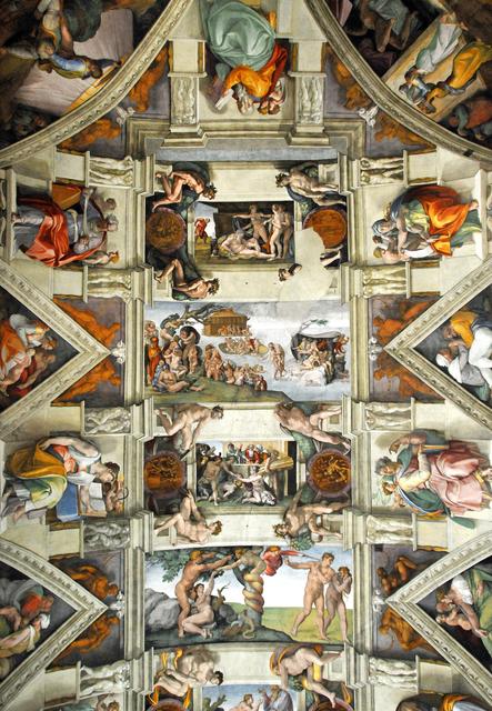 Michelangelo Buonarroti Sistine Chapel Ceiling Frescoes