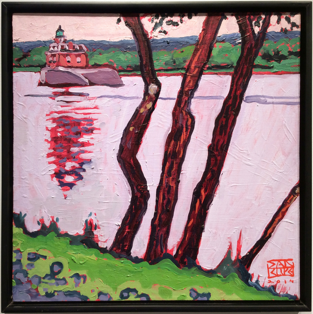 , 'River Trees, Athens, Hudson Lighthouse,' 2014, Carrie Haddad Gallery