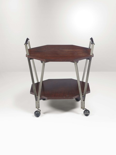 Ico Parisi, 'A Sirio 1101 cart with a nicheled brass structure and wooden tops', 1959, Design/Decorative Art, Cambi