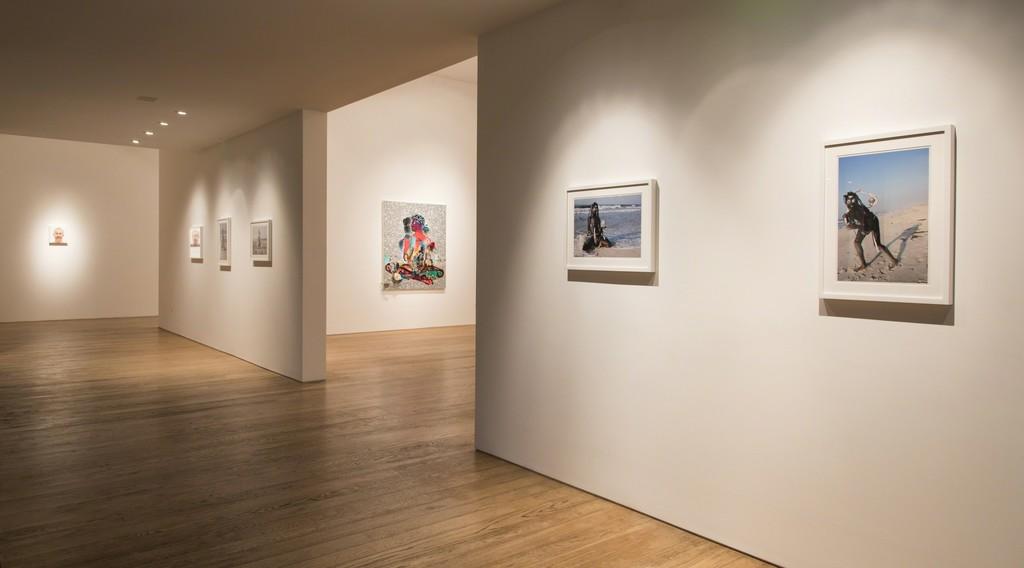 Devan Shimoyama, Installation view at Samuel Freeman, 2016