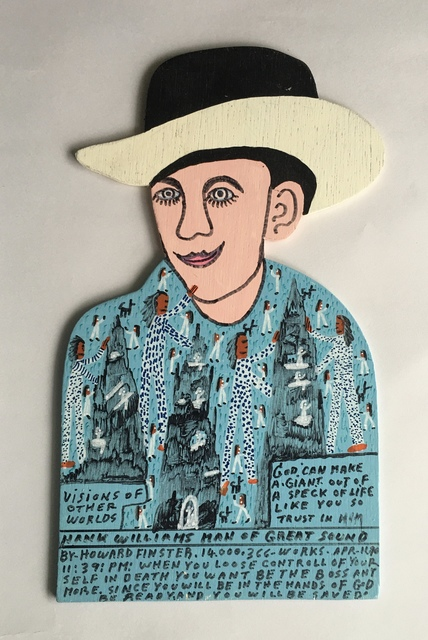 Howard Finster, 'Hank Williams Man of Great Sound', 1990, Painting, Enamel and acrylic on wood, Beatrice Wood Center for the Arts