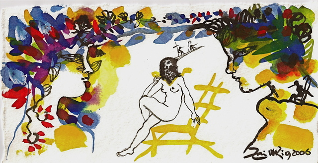 Zaida del Río, 'Sin titulo A', 2006, Painting, Watercolor, gouache, pastel, charcoal, and graphite on paper., MLA Gallery