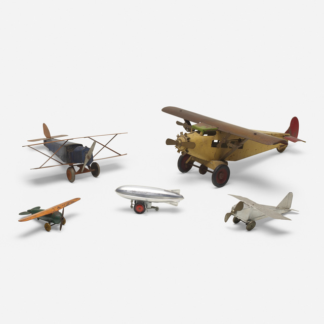 Unknown American, 'collection of five vintage toy planes', c. 1935, Wright