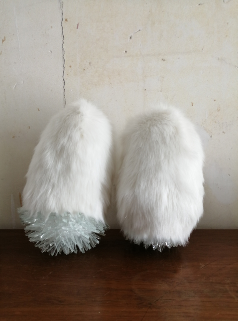 Elodie Antoine, '2 Pattes', 2020, Sculpture, Synthetic fur and glass, Aeroplastics
