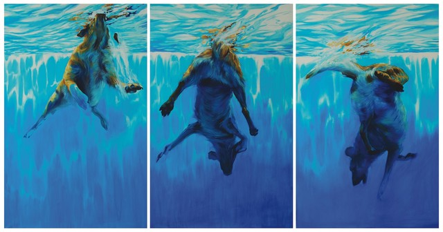 , 'Into The Deep, Triptych,' 2009, Galerie Sandhofer