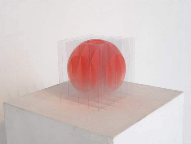, 'sphère rose dégradée,' 2017, Galerie Marie-Robin