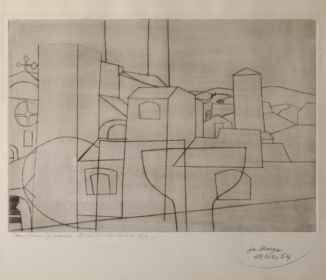 Ben Nicholson, 'San Gimignano', 1953, The Fine Art Society
