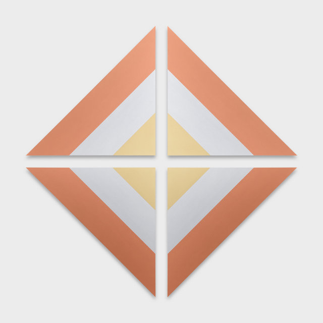 , 'Gold, Silver and Copper (Triangular Painting),' 2017, KÖNIG GALERIE