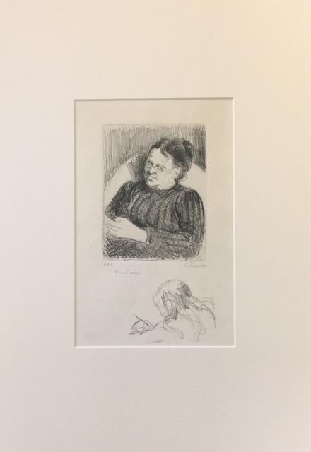 Camille Pissarro, 'Grand'mère - Portrait de la femme de l'artiste', 1895, Wallector
