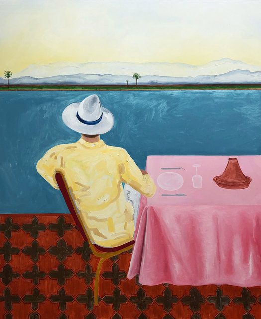 , 'The Pink Tablecloth,' 2019, Marc Straus