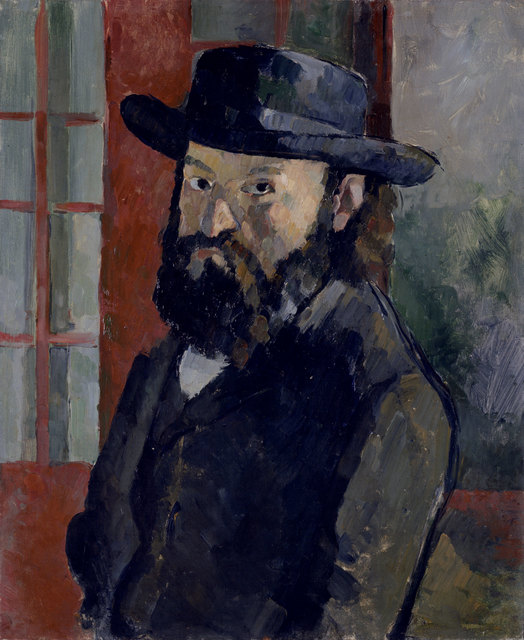 , 'Selbstbildnis mit schwarzem Filzhut (Self-portrait with black felt hat),' ca. 1879, Kunstmuseum Bern