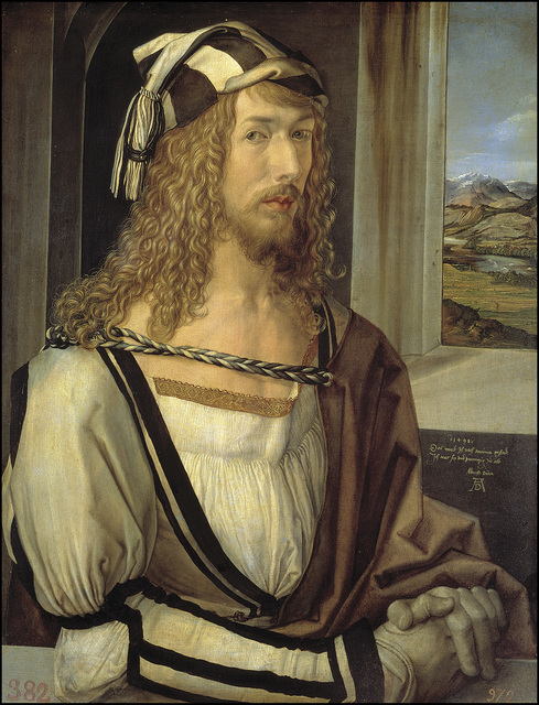 Albrecht Dürer, 'Self-Portrait', 1493, Painting, Oil on panel, Museo Nacional del Prado