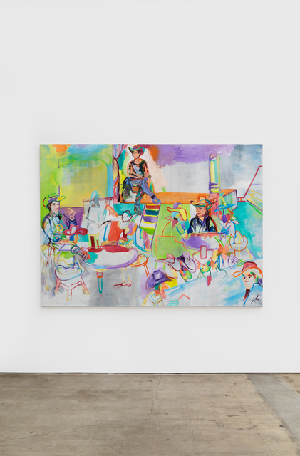 Gerlind Zeilner, 'Saloon Bar', 2020, Painting, Oil and egg tempera on canvas, NINO MIER GALLERY