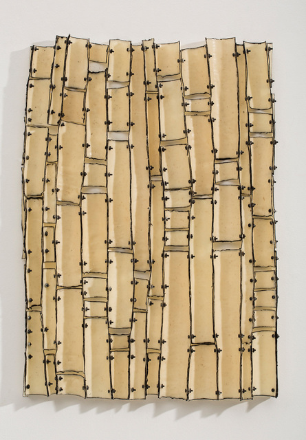 Brenda Mallory, 'Variable Order #2', 2014, Mixed Media, Waxed cloth, nuts & bolts, Julie Nester Gallery