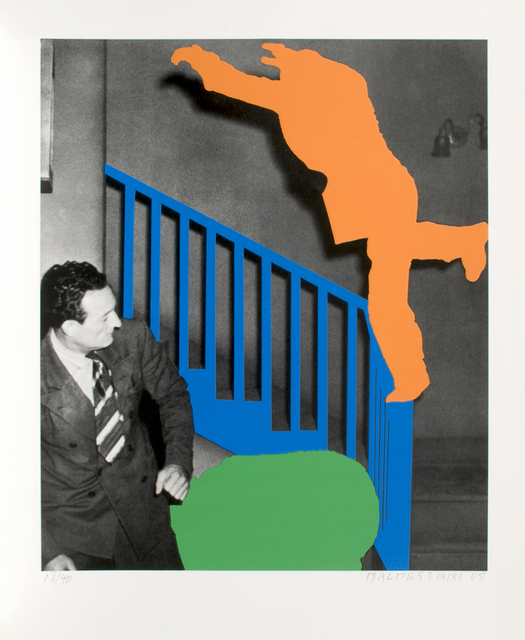 , 'Two Figures: One Leaping (Orange); One Reacting (With Blue & Green),' 2005, Brooke Alexander, Inc.