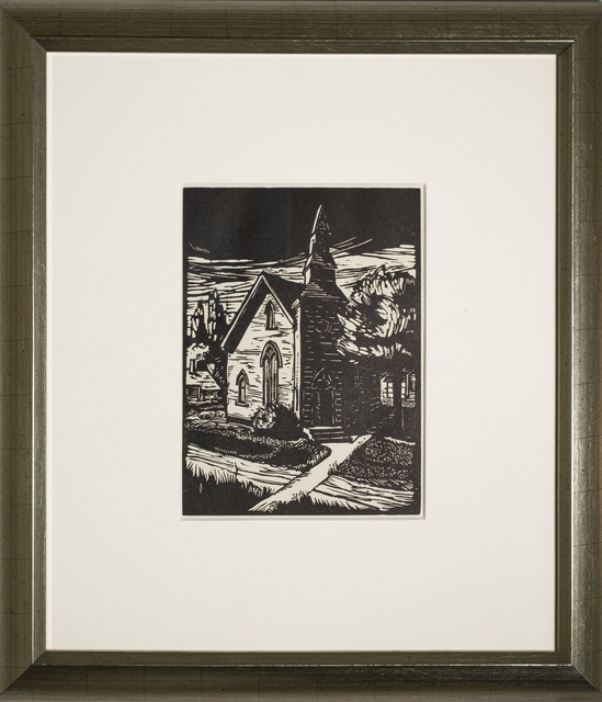 , 'Country Church,' 1936, David Barnett Gallery