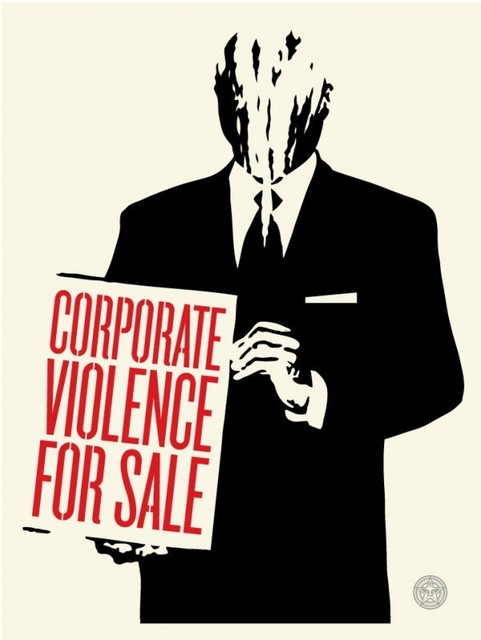 Shepard Fairey, 'Corporate violence for sale', 2011, DIGARD AUCTION