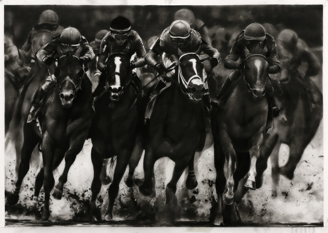 Robert Longo, 'Study of 4 Horsemen (Kentucky Derby 2019)', 2019, Metro Pictures