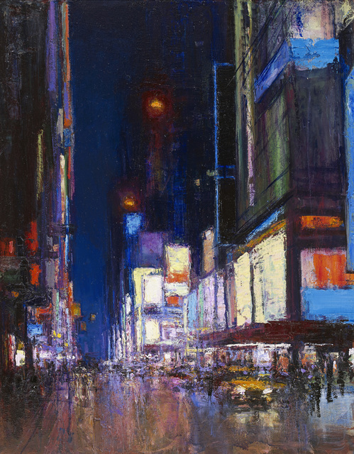 , 'Times Square, Night Large Study,' 2015, John Martin Gallery