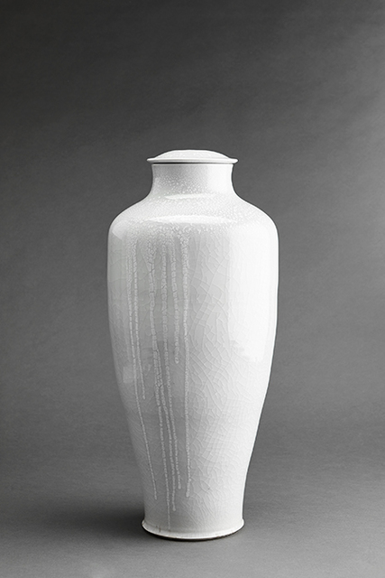 , 'Vase, white ice crackle and copper red glaze,' , Pucker Gallery