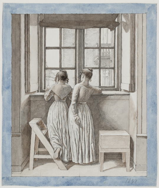 , 'At a Window in the Artist's Studio,' 1852, Statens Museum for Kunst